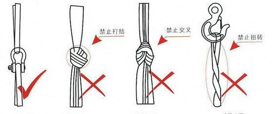 白色吊装带使用方法